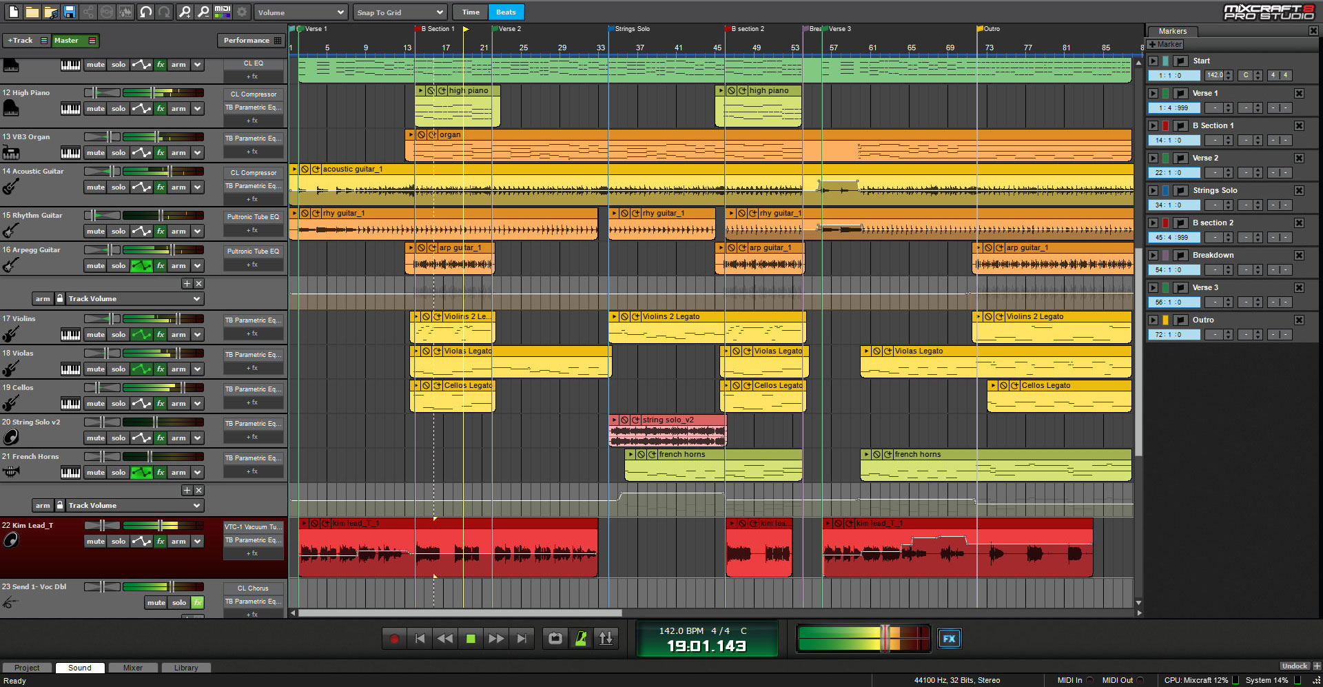 Mixcraft 8 Pro Studio Music Production Software Screenshot 1