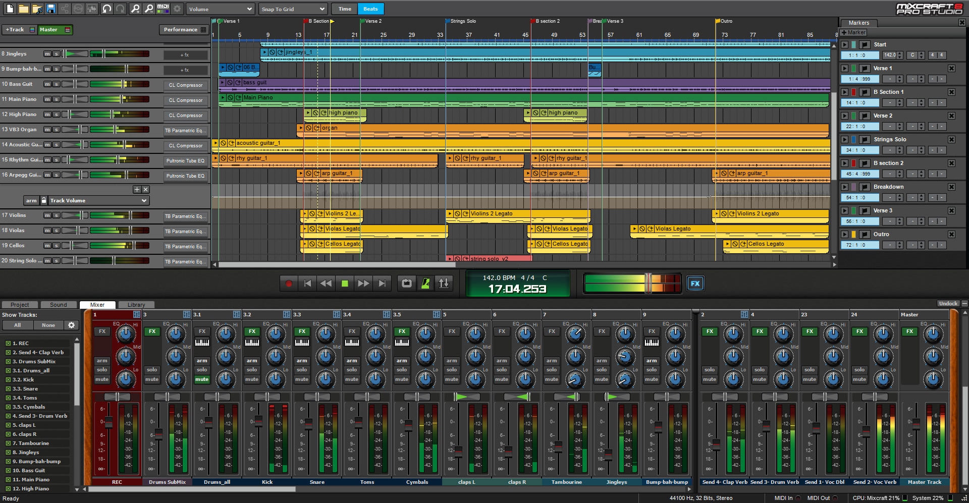 Mixcraft 8 Pro Studio Music Production Software Screenshot 2