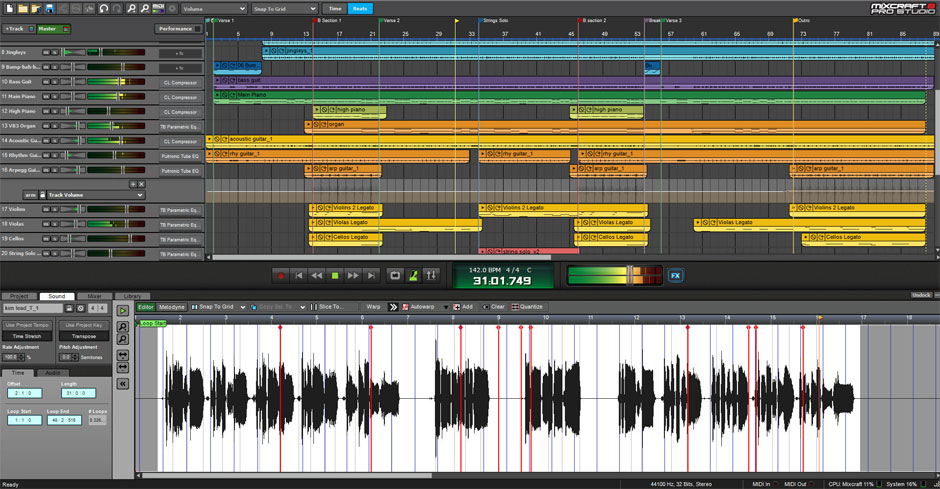 Mixcraft 8 Pro Studio Music Production Software Screenshot 3
